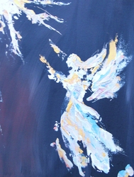 &quot;Believe&quot; Angel in the &quot;light&quot;,  Chris Canova, for ABBA House, www.abbahouse.com
